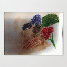 Gesso Scan Canvas Print