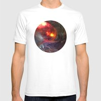 Flaming Seashell 5 Mens Fitted Tee White SMALL