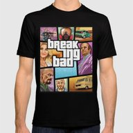 Breaking Bad: GTA  Mens Fitted Tee Black SMALL