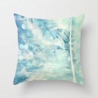 Feather & Sparkle Throw Pillow