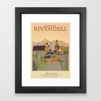 Retro Travel Poster Series - The Lord of the Rings - Rivendell Framed Art Print