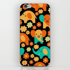 Stylized Elephant Childr… iPhone & iPod Skin