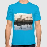 Industial dichromatic rainbow Mens Fitted Tee Teal SMALL