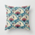 Oriental FanTasy Throw Pillow
