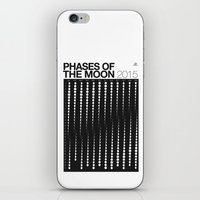 2015 Phases Of The Moon … iPhone & iPod Skin
