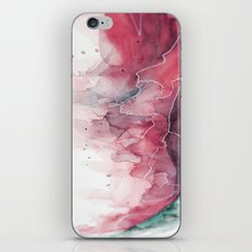 Watercolor pink & green, abstract texture iPhone & iPod Skin