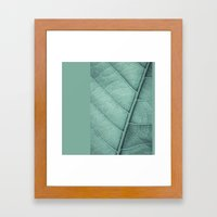 Sage Green Closeup Leaf Framed Art Print