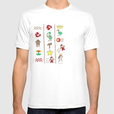 The Legend of Mario Mens Fitted Tee SMALL White