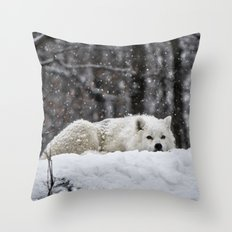 Dreams of warmer weather Throw Pillow