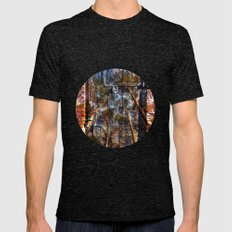 Door Into The Forest  Mens Fitted Tee Tri-Black SMALL