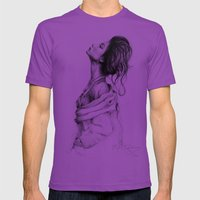 Pretty Lady Illustration Mens Fitted Tee Ultraviolet SMALL