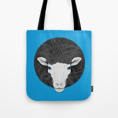 Black White Sheep Tote Bag