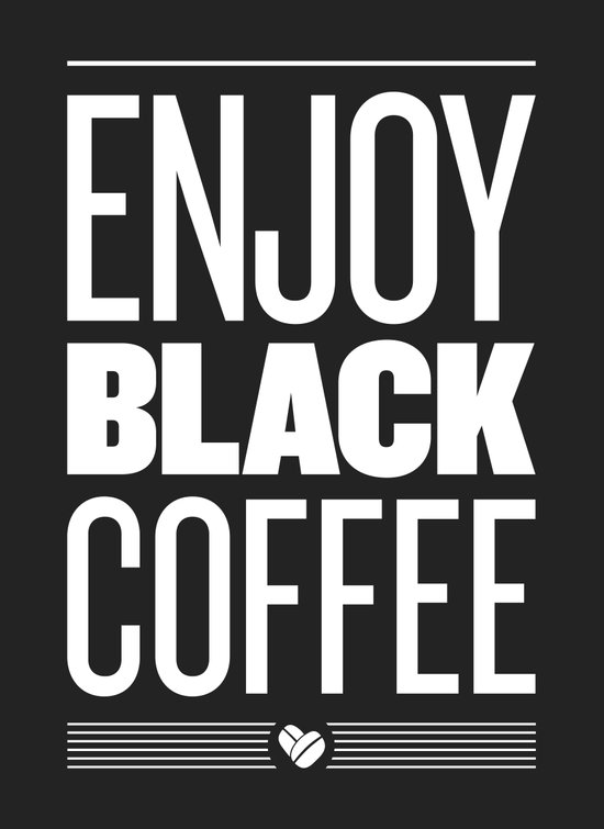 Enjoy Black Coffee – Dark Grey Canvas Print