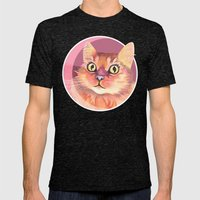 Miss Meowgi Mens Fitted Tee Tri-Black SMALL