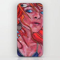 Girl With a Squirrel Earring iPhone & iPod Skin