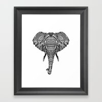 Polynesian Elephant Framed Art Print