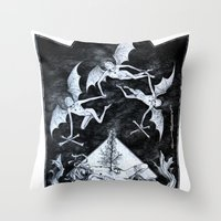 Aconitum Throw Pillow