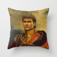 Throw Pillow featuring Patrick Swayze - Replace… by Replaceface