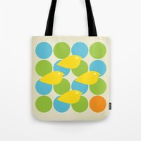 MidCentury Bird Pattern Tote Bag