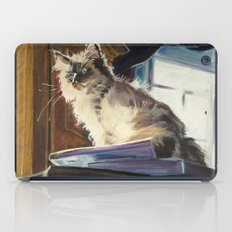 The Magnificent Ascent of the Mighty Bear (the Ragdoll Cat) iPad Case