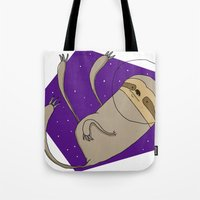 Sloth in Space Tote Bag