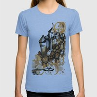 Castle float Womens Fitted Tee Athletic Blue SMALL