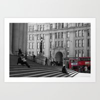 The Steps Of St Paul's A… Art Print