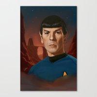 Mr. Spock Canvas Print