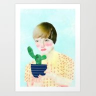 Art Print featuring Maria by Lazy Albino