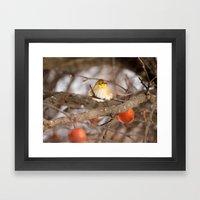 American Goldfinch In Wi… Framed Art Print