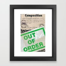 Out of Order Framed Art Print