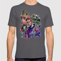 Guardians Of The Galaxy Mens Fitted Tee Asphalt SMALL