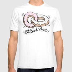 ETERNAL LOVE SMALL White Mens Fitted Tee