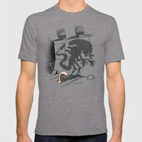 Lunch! Mens Fitted Tee Tri-Grey SMALL