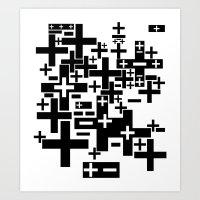 PLUS/MINUS Art Print
