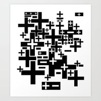 PLUS/MINUS Art Print