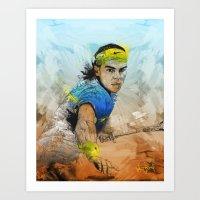Rafa Nadal Art Print