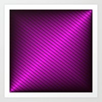 Purple Oblique Stripes Art Print