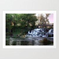 Waterfall @ Rye Water Lake Art Print