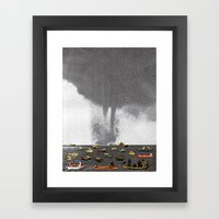 Theres a Storm Coming Framed Art Print
