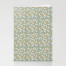 Cigarette Pattern II Stationery Cards