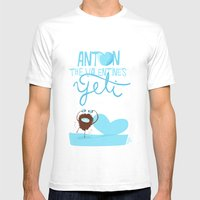 Anton, the Valentine´s Yeti Mens Fitted Tee White SMALL