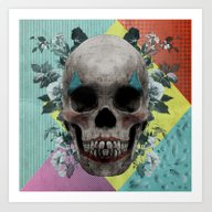 Art Print featuring Skull Getting' Ready For… by Rosa Picnic