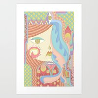 Layla in Pastel Art Print