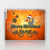 Christmas Crow Laptop & iPad Skin