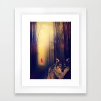Once Upon A Time: Red Framed Art Print