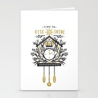 Time To Rise And Shine Stationery Cards