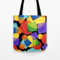 Candy Rainbow Geometric Tote Bag