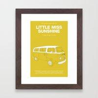 Little Miss Sunshine Framed Art Print