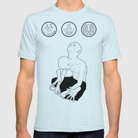 Wishing-well/prison-cell Mens Fitted Tee Light Blue SMALL